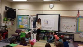 Perkins+Wills interior designer works with 3rd graders on design thinking bedrooms