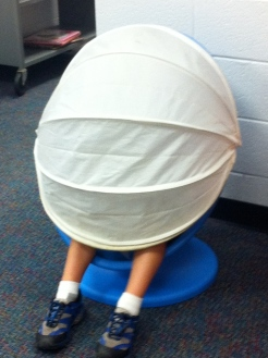 finding private reading space in the elementary library